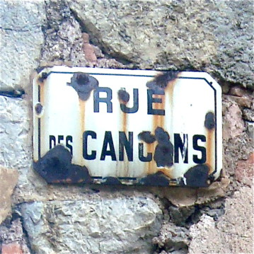 Lagrasse - our street sign